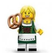 Lego Collectable Minifigures: Pretzel Girl Minifigure (Series 11)
