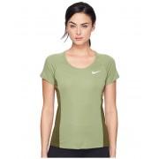 Nike Dry Miler Short Sleeve Running Top Palm GreenLegion GreenReflective Silver
