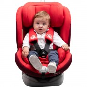 Scaun auto Allegra rotativ cu isofix 0-36 kg rosu KidsCare