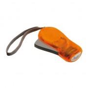 Geen 2x Knijpkat zaklampen oranje 10,5 cm