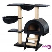 vidaXL Penjalica za mačke 105 cm Tamno Plavi Pliš