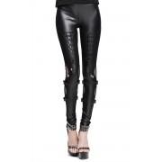pantalon pour femmes (caleçons longs) DEVIL FASION - Gothic Jett - DVPT014