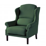 Dekoria Fotel Unique, Forest Green (zielony), 85 × 107 cm, Cotton Panama