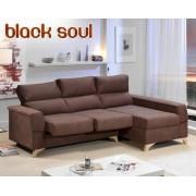 HOME Sofá de tela Black Soul