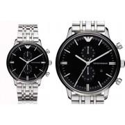 Emporio Armani Men's Silver Chronograph Watch