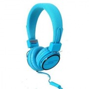 SoulBuddy S-type Headphone : Stylish Headphone/iPhone Microphone Headset for Phone & PC [BLUE]