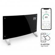Klarstein Bornholm Curved Smart, конвекционен нагревател, 2000 W, регулиране с приложение, черен (ACO7-BrnhlmCrvdSmrtB)