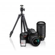 Combo de Cámara Nikon DSLR D3500 + 2 Lentes Diferentes con Tripié