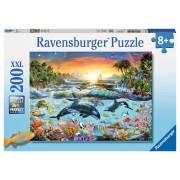 PUZZLE PARADISUL DELFINILOR, 200 PIESE - RAVENSBURGER (RVSPC12804)