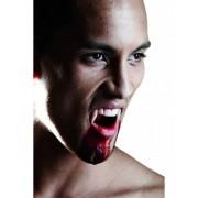 Dentadura postiza de vampiro de lujo para adulto ideal para Halloween Talla única