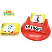 Literacy Card Game from Little Treasures Includes Alphabet Pieces with Picture Word Cards That Help Teach Kids