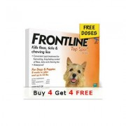 Frontline Top Spot Small Dogs 0-22 lbs (Orange) - Buy 4 Get 4 Free