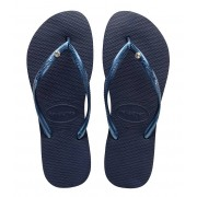 Havaianas Slippers Flipflops Slim Crystal Glamour Swarovski Blauw