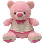 Ultra Bow & Jacket Teddy Soft Toy 15 Inches - Pink