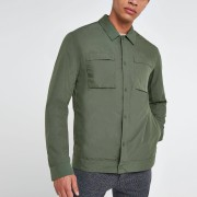 River Island Mens Selected Homme Khaki shacket (L)