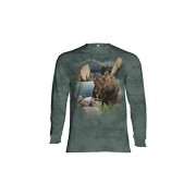 The Mountain Moose LS T Shirt Monarch of Forest Adult M