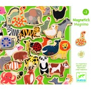 Joc magnetic cu animale Djeco - 36 piese de lemn