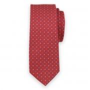 Keskeny nyakkendő piros színben színes mintával 11130