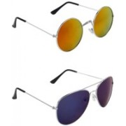 whay Round, Aviator Sunglasses(Multicolor)