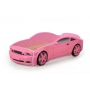 Детско легло тип кола Мустанг 3D в розов цвят