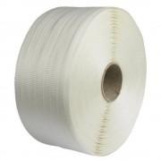 Banda de Legat PES Tesuta 25mm x 500m - Poliester Textil pentru Ambalare si Paletizare