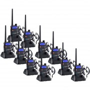 Pack 10 Radio Walkie Talkie Digital Baofeng UV-5R VHF/UHF/FM