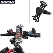 COBAO kormányra rögzíthető telefontartó 3-6 inches készülékekhez - FEKETE