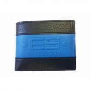 ES Collection Leather Wallet Navy WLT01