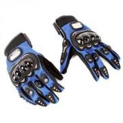 PRO-BIKER Motorcycle Gloves Full Finger Bike Men Cycling glove Moto Sport Gear blue