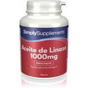Simply Supplements Aceite de Linaza 1000mg - 360 Cápsulas