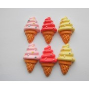 Mini Ice Cream Cone Stud Silver Earrings.