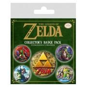 Pyramid International Legend of Zelda Pin Badges 5-Pack Classics