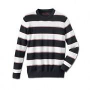 "Pima Cotton Pullover ""Nautical Stripes"", 42 - Navy/White/Red"