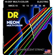 DR Strings HiDef Multi Color Neon E 10