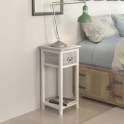 vidaXL Noptieră cu 1 sertar, gri și alb