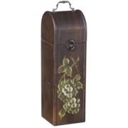 Kufřík na 1 lahev bílého vína rustik dřevěný