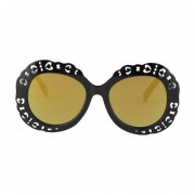 Hollow Carved Marco de plástico de alta calidad a prueba de rayos ultravioleta Vintage gafas de sol