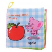 Alcoa Prime Baby Soft Cloth Cognize Book Kids Intelligence Development Toy Learn Fruits