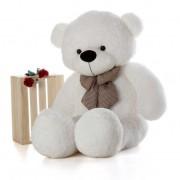 5 Feet White Teddy Bear with a Bow