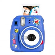 Shaveh Cámara Fujifilm Instax Mini 9 Azul Doraemon cámara de película instantánea Amarillo automática instantánea cámara de Fotos Azul Gatos Civiles (edición Limitada Global)