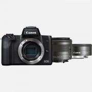 Canon Boîtier Canon EOS M50 + objectif EF-M 15-45mm IS STM + objectif EF-M 22mm f/2 STM – Noir