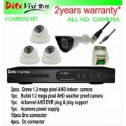 Ditsvision 4 HD CCTV camera set 1.3 mega pixel AHD