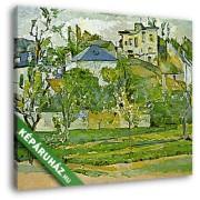 Paul Cézanne: Gyümölcsöskert Pontoisében (30x25 cm, Vászonkép )