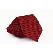 Pánská červená slim kravata s černým vzorem - 6 cm