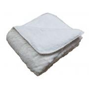 CONFORAMA Plaid 180x230 cm BUNNY 2 coloris blanc cassé