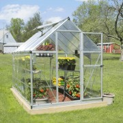 Palram Nature Hybrid 6 x 10 Greenhouse Silver