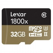 Lexar Professional 1800x microSDHC de 32 GB Kit - LSDMI32GCRBEU1800R