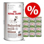Royal Canin Babydog melk + 12 x 195 g Starter Mousse hondenvoer - Voordeelpakket