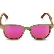 Caprio Retro Square Sunglasses(Pink)