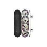 Kit Skate Radical Super Com Acessórios Caveira Rosa